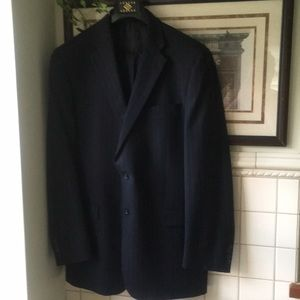 Like new Burberry Navy pinstriped suit